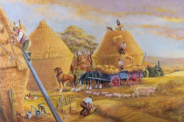 Animals Painting - The Last Load by Dudley Pout