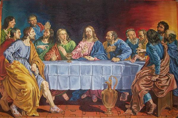 Religious Painting - The Last Supper Copied From Lois De Silvestre by Regie Alquizalas
