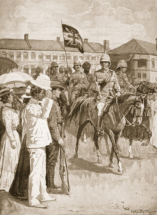 Boxer Rebellion Drawing - The Leader Of The Allies, Illustration by Ernest Prater