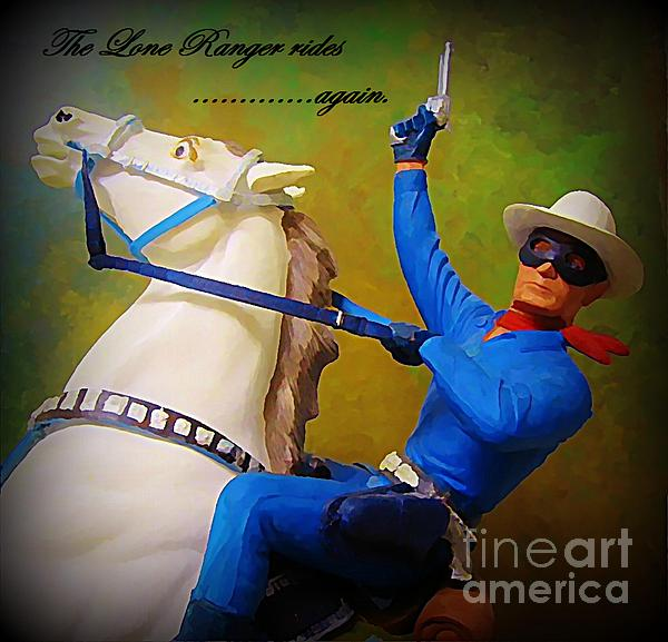Americana Painting - The Lone Ranger Rides Again by John Malone