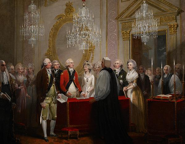 Chandelier Painting - The Marriage Of The Duke And Duchess Of York by Henry Singleton