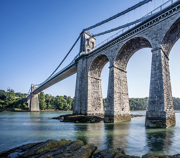 The Menai Suspension Bridge, Built In 1826 By Thomas Telford. Photograph by Roy JAMES Shakespeare