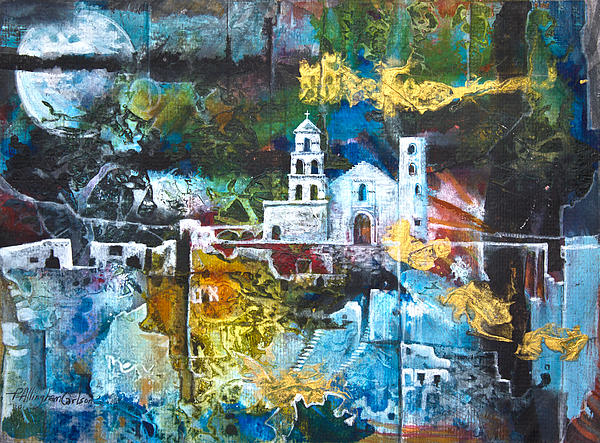 Mission Mixed Media - The Mission by Patricia Allingham Carlson