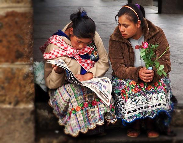 Guatemala Photograph - The Morning News by Ramon Fernandez