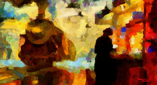 Old Train Digital Art - The Morning Train Tnm by Vincent DiNovici