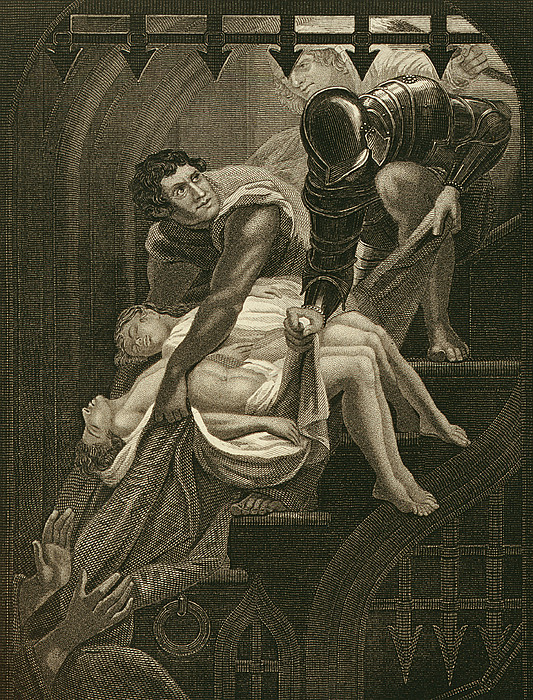 Male Drawing - The Murder Of The Two Princes by James Northcote