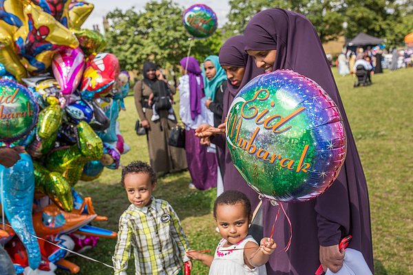 The Muslim Festival Of Eid Al-fitr Is Celebrated Around The Uk Photograph by Rob Stothard