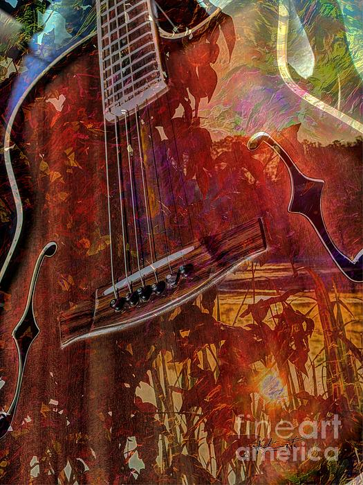 Acoustic Digital Art - The Nature Of Music Digital Guitar Art By Steven Langston by Steven Lebron Langston