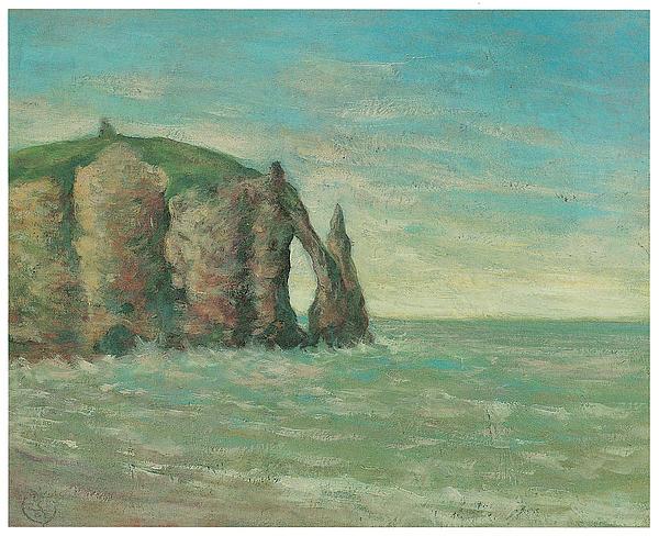 Claude Emile Schuffenecker Painting - The Needle At Etretat by Claude Emile Schuffenecker