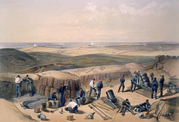 Defensive Wall Drawing - The New Works On The Right Attack by William Crimea Simpson