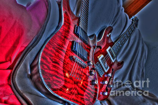Acoustic Photograph - The Next Red Thing Digital Guitar Art By Steven Langston by Steven Lebron Langston