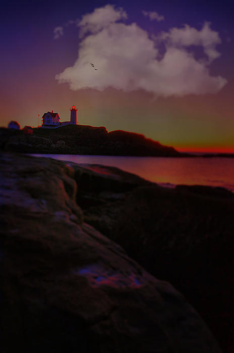 Lighthouse Photograph - The Odd Hour by Emily Stauring