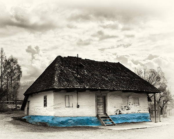 Transylvania Photograph - The  Old Blue House -1342  by Dorin Stef