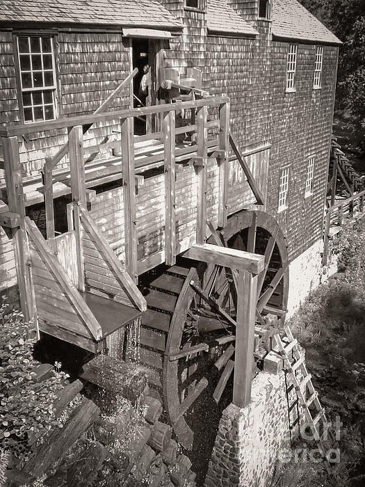 Old Photograph - The Old Saw Mill by Edward Fielding