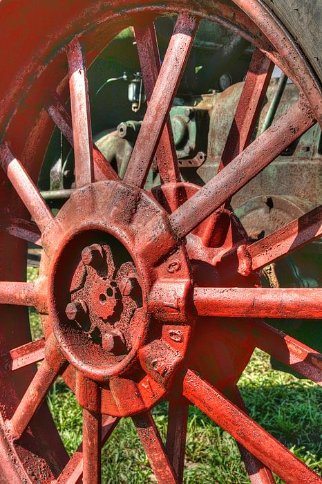 Tractor Photograph - The Old Wheel by Michael  Allen