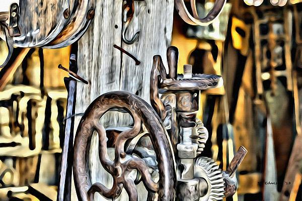 Tools Digital Art - The Ole Drill Press by DD Edmison