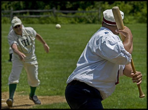Baseball Photograph - The Pitch by Alida Thorpe