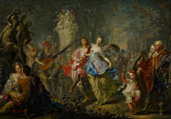 The Pleasures Of The Seasons     Spring Painting by Johann Georg Platzer