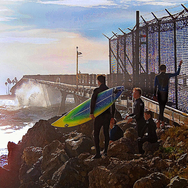 Surfer Photograph - The Point Of No Return by Ron Regalado