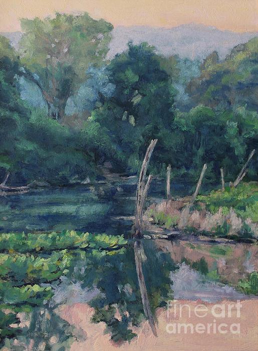 June Painting - The Ponds Edge by Gregory Arnett