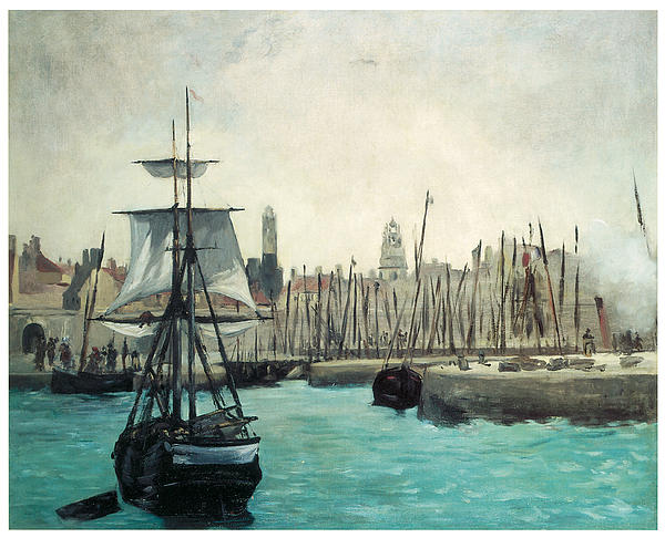 Edouard Manet Painting - The Port At Calais by Edouard Manet