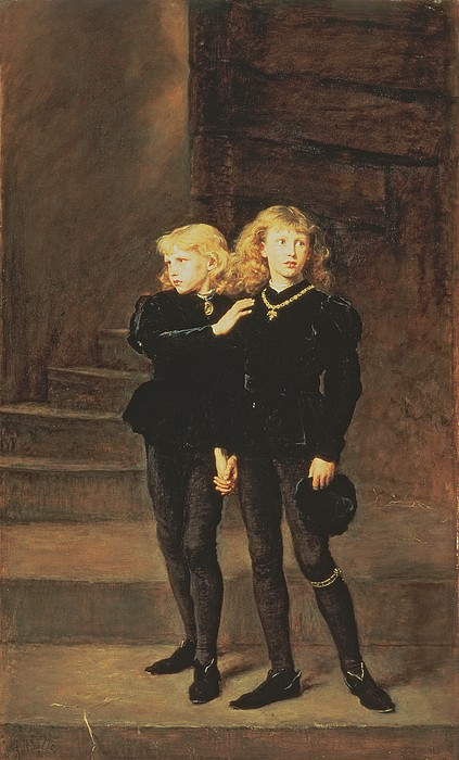 Imprisonment Painting - The Princes Edward And Richard by Sir John Everett Millais