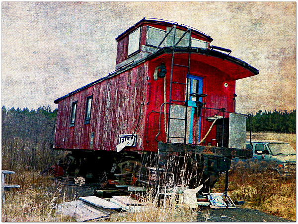 The Red Caboose Photograph by Dianne  Lacourciere