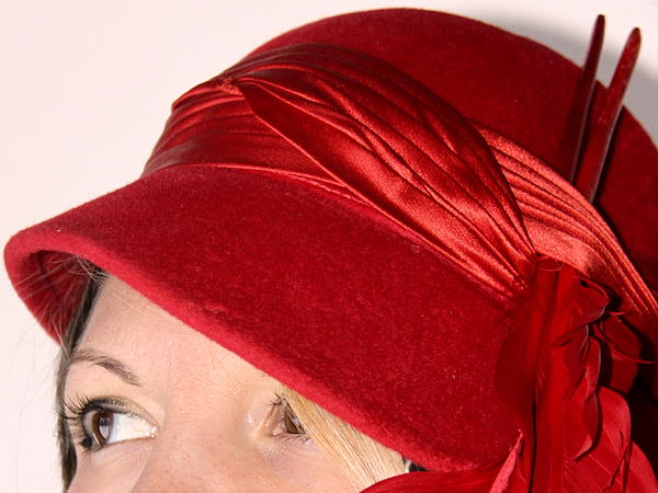 Portrait Photograph - The Red Hat by  Andrea Lazar