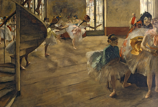 Impressionist Painting - The Rehearsal, C.1877 by Edgar Degas