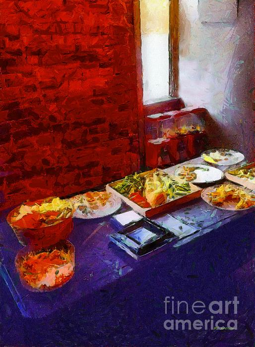 Food Painting - The Remains Of The Feast by RC deWinter