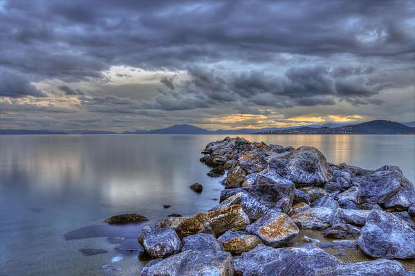 Greece Photograph - The Rocks by George Leontaras