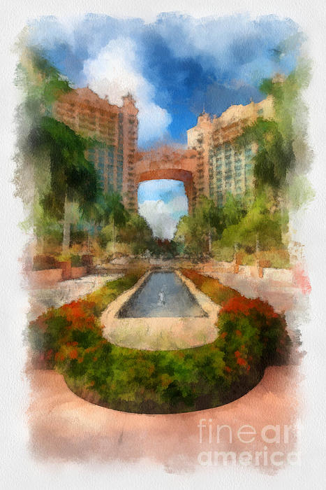 Atlantis Digital Art - The Royal Towers Atlantis Resort by Amy Cicconi