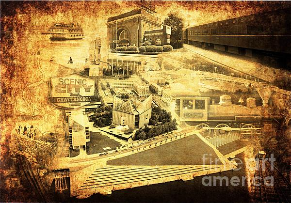 Chattanooga Digital Art - The Scenic City by Joe A