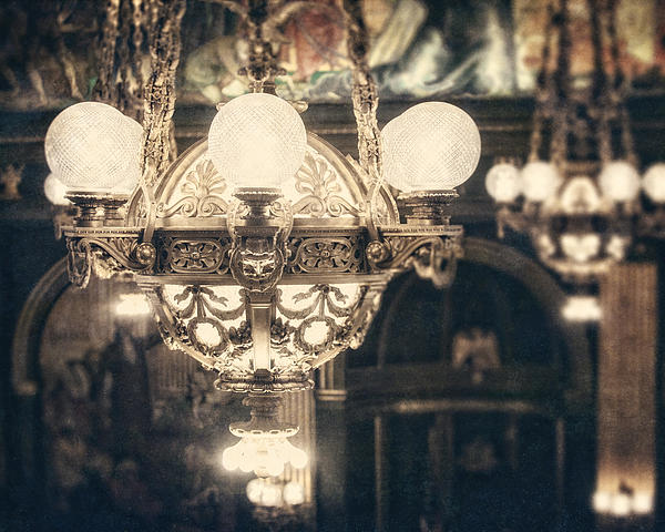 Bronze Photograph - The Senate Chandeliers  by Lisa Russo
