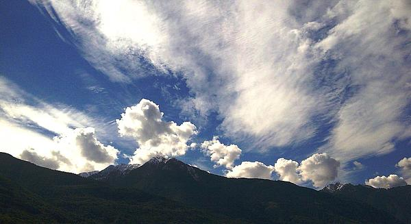 Mountain Landscape Photograph - The Sky by Giuseppe Epifani