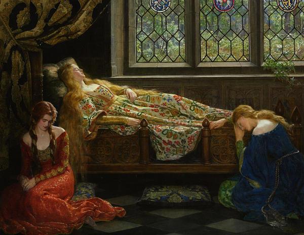 The Sleeping Beauty Digital Art - The Sleeping Beauty by John Collier