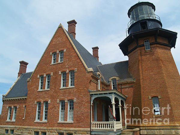 Lighthouse Photograph - The Southeast Light On Block Island Ri by Anna Lisa Yoder