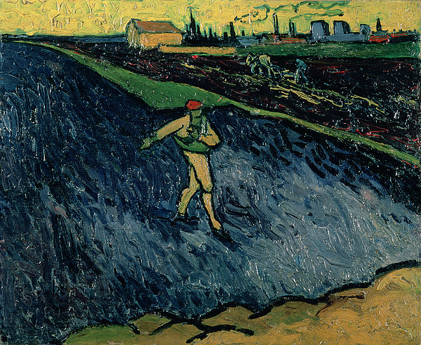 Agriculture Painting - The Sower by Vincent van Gogh