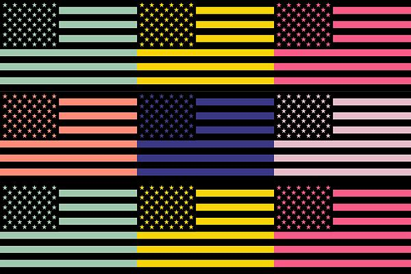 America Mixed Media - The Star Flag by Tommytechno Sweden