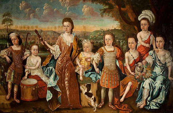 Strachey Painting - The Strachey Family, C.1710 by English School