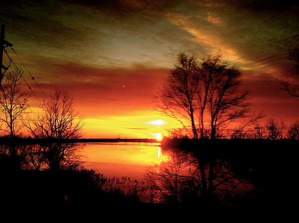 Sunset Photograph - The Sunset Amherstburg On by Pretchill Smith