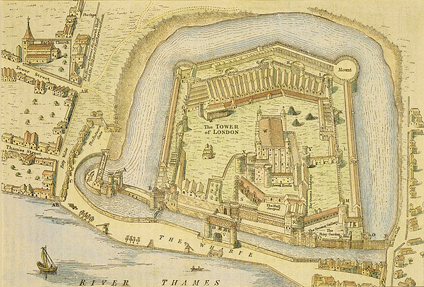 Print Drawing - The Tower Of London, From A Survey Made by English School