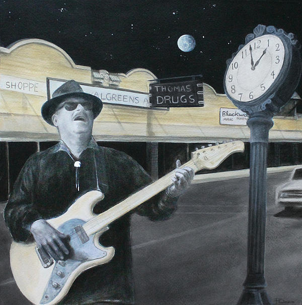 Blues Painting - The Town Crier by Patricia Ann Dees