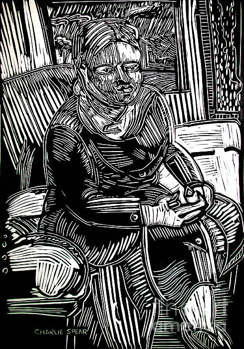 Traveler Drawing - The Traveler by Charlie Spear