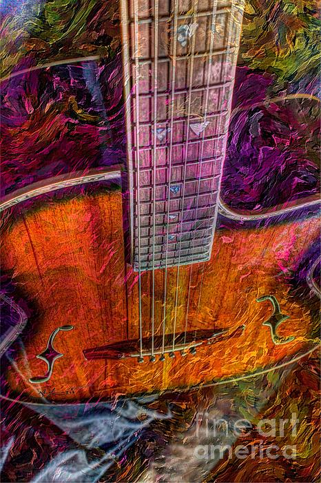 Acoustic Photograph - The Tuning Of Color Digital Guitar Art By Steven Langston by Steven Lebron Langston