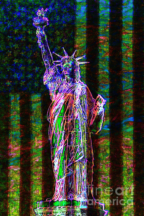 Flag Photograph - The United States Of America 20130115 by Wingsdomain Art and Photography