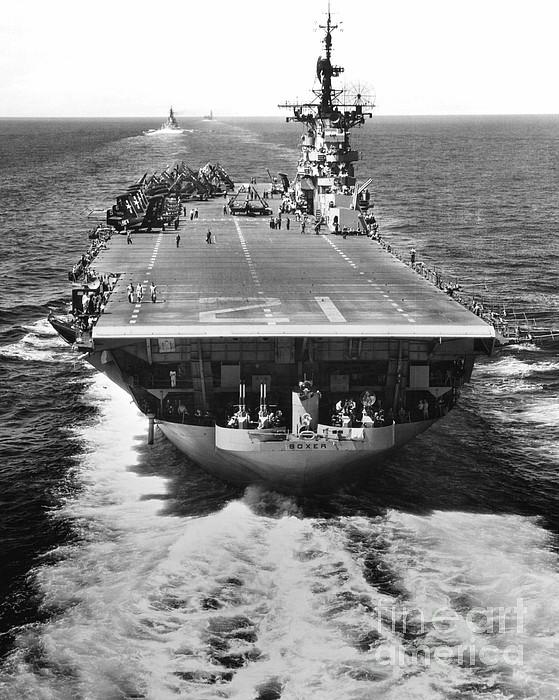 War Photograph - The U.s. Aircraft Carrier Uss Boxer by Stocktrek Images