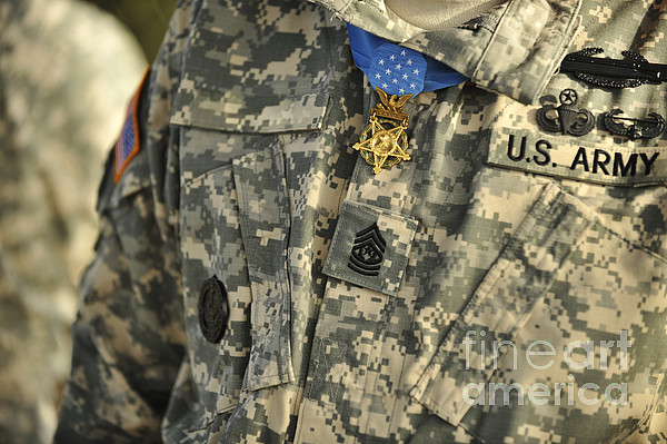 Horizontal Photograph - The U.s. Army Medal Of Honor Is Worn by Stocktrek Images