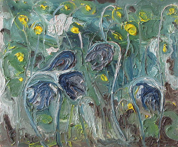 Fournier Painting - The Wild Purple Flowers by Francois Fournier