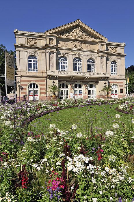 Baden-baden Photograph - Theater Building Baden-baden Germany by Matthias Hauser